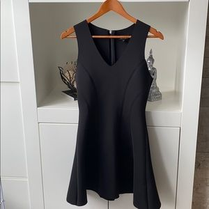 top shop sleeveless v neck scuba material dress